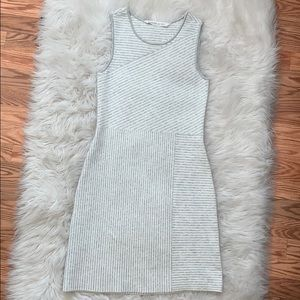 Athleta Gray & White Striped Sweater Dress, XS